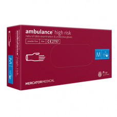 Рукавиці Ambulance High Risk латексні M 50 шт. Сині (10178003)