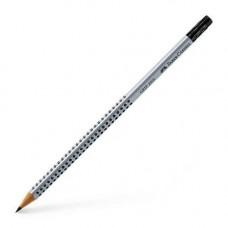 Олівець чорнографітний трикутний Faber Castell B з гумкою (117201)