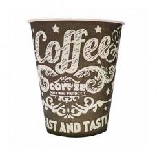 Стакан картонний Coffee Late 250 мл 50 шт. Чорний (130254)