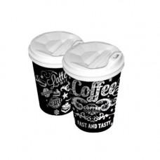 Стакан картонний Coffee Late 110 мл 50 шт. Чорний (21471)