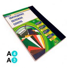 Обкладинка картонна D&A А4 250/м2 100шт Чорна під шкіру (1220101021300)