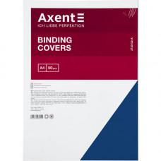 Обкладинка картонна Axent А4 50 шт Синя під шкіру (2730-02-A)