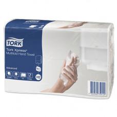 Рушники паперові Tork Xpress Multifold двошарові Z-складання 190 листов Білі (471117)
