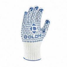 Робочі рукавиці Doloni з крапкою універсальні 10 клас 2 шт. (520)