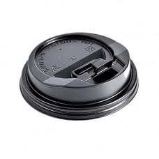 Кришка для стакана фігурна 90 мм 100 шт. Чорна (559986)