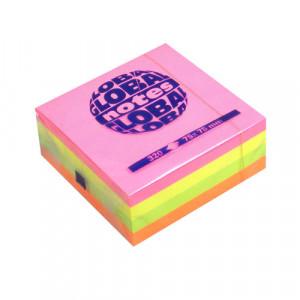 Папір для нотаток Global Notes з клейким шаром 75х75 мм 320 аркушів Асорті (66405)