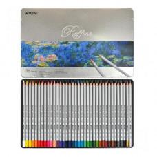 Олівці кольорові Marco Raffiner в металевому пеналі 36 кольорів  (7100-36TN)