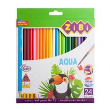 Олівці кольорові акварельні ZiBi Kids Line 24 кольори (ZB.2476)