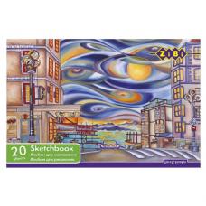 Альбом для малювання на пружині ZiBi 20 аркушів різноманітний дизайн (ZB.1440)