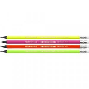 Олівець чорнографітний BiC Evolution Fluo HB з гумкою (bc942882)