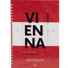 Блокнот Axent Flags Vienna A5 96 аркушів у клітинку (8032-07-A)