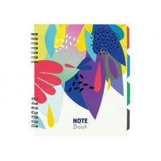 Блокнот з розділювачами Optima Flowers B5 120 аркушів у клітинку (O20356-14)