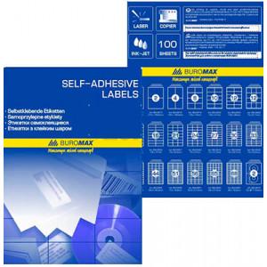 Набір етикеток самоклеючих Buromax 100 аркушів 48.3х25.4 мм (BM.2855)