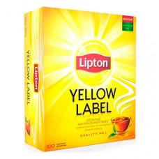 Чай пакетований Lipton Yellow Label Чорний 100 шт (005373)