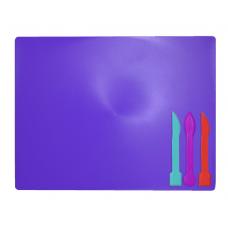 """Дошка для пластиліну """"ZiBi"""" 3 стека фіолетова (ZB.6910-07)"""