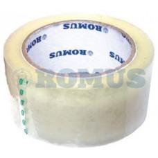 Клейка стрічка пакувальна Romus 48 мм х 100 м 50 мкм Прозора (497833)