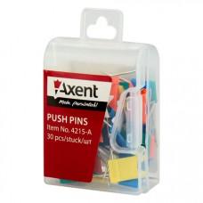 Кнопки-прапорці Axent 30 шт. Кольорові (4215-A)