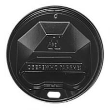 Кришка для стакана фігурна 90 мм 50 шт. Чорна (ПЛ-90 чорн)
