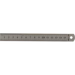 Лінійка Buromax сталева 15 см Срібляста (BM.5810-15)