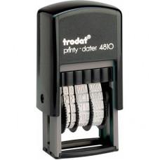 Мінідатер Trodat bank 3.8 мм Чорний корпус (4810Bank)