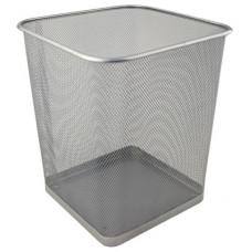 Металевий кошик для паперів Axent квадратний 15 л Сріблястий (2124-03-A)