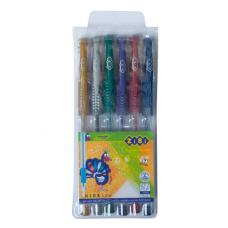 Набір гелевих ручок ZiBi Metallic 6 шт. Асорті 0.7 мм (ZB.2203-99)