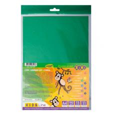 Набір кольорового паперу самоклеючого ZiBi A4 11 аркушів 11 кольорів (ZB.1949)