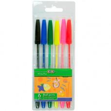 Набір кулькових ручок ZiBi 6 шт. Асорті (ZB.2011)
