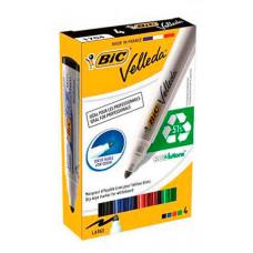 Набір маркерів BIC Velleda для сухостиральних дошок 1.7 мм 4 шт. (bc904941)