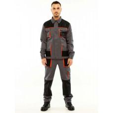 Напівкомбінезон робочий з курткою STUGA Тритон Сірий (127504)