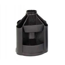 Пластикова підставка-органайзер КІП обертальна Чорна (OB23черн.)