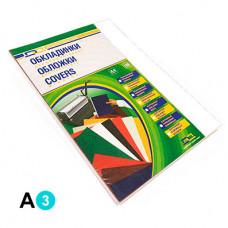 Обкладинка картонна D&A А3 250г/м2 100 шт Біла під шкіру (1220101028300)