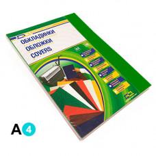 Обкладинка картонна D&A А4 250 г/м2 100 шт. Зелена під шкіру (1220101020600)