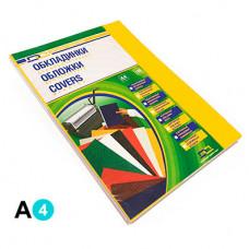 Обкладинка картонна D&A A4 250 г/м2 100 шт Жовта під шкіру (1220101020400)