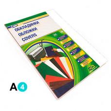 Обкладинка картонна D&A А4 250г/м2 100 шт Біла під шкіру (1220101020300)