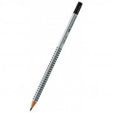 Олівець чорнографітний трикутний Faber Castell Grip HB з гумкою (117200)