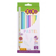 Олівці кольорові ZiBi Pastel 12 кольорів (ZB.2470)
