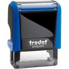 Оснастка для штампу Trodat 38х14 мм Синій корпус (4911 P4 синя)