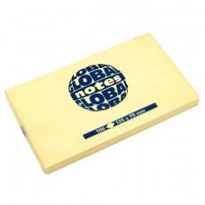 Папір для нотаток Global Notes з клейким шаром 125х75 мм 100 аркушів Жовтий (68.128)