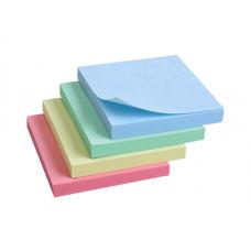 Папір для нотаток Global Notes з клейким шаром 75х75 мм 100 аркушів Пастель асорті (68.208)