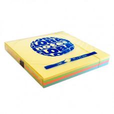 Папір для нотаток Global Notes з клейким шаром 75х75 мм 100 аркушів Веселка пастель (68.122)