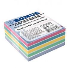 Папір для нотаток Romus Непроклеєний 85х85 мм 400 аркушів Люкс (R880894)