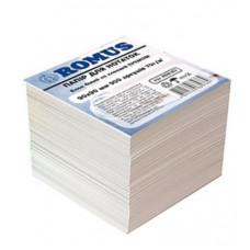 Папір для нотаток Romus Непроклеєний 90х90 мм 900 аркушів Преміум Білий (R880382)