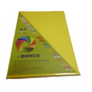 Папір кольоровий Romus A4 160 г/м2 100 аркушів Канарково-жовтий (R50805)