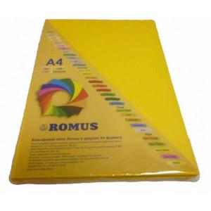 Папір кольоровий Romus A4 160 г/м2 100 аркушів Сонячно-жовтий (R50843)