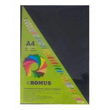 Папір кольоровий Romus A4 80 г/м2 100 аркушів Чорний (R50430)