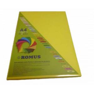 Папір кольоровий Romus A4 80 г/м2 100 аркушів Канарково-жовтий (R50799)