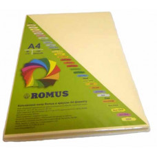 Папір кольоровий Romus A4 80 г/м2 100 аркушів Кремовий ( R50539)