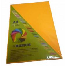 Папір кольоровий Romus A4 80 г/м2 100 аркушів Неоновий помаранчевий (R50690)