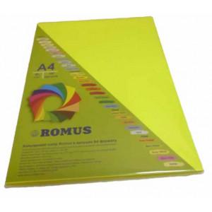 Папір кольоровий Romus A4 80 г/м2 100 аркушів Неоновий жовтий (R50713)